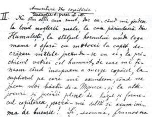 Ion-Creanga-Manuscris-Amintiri-prima-pagina